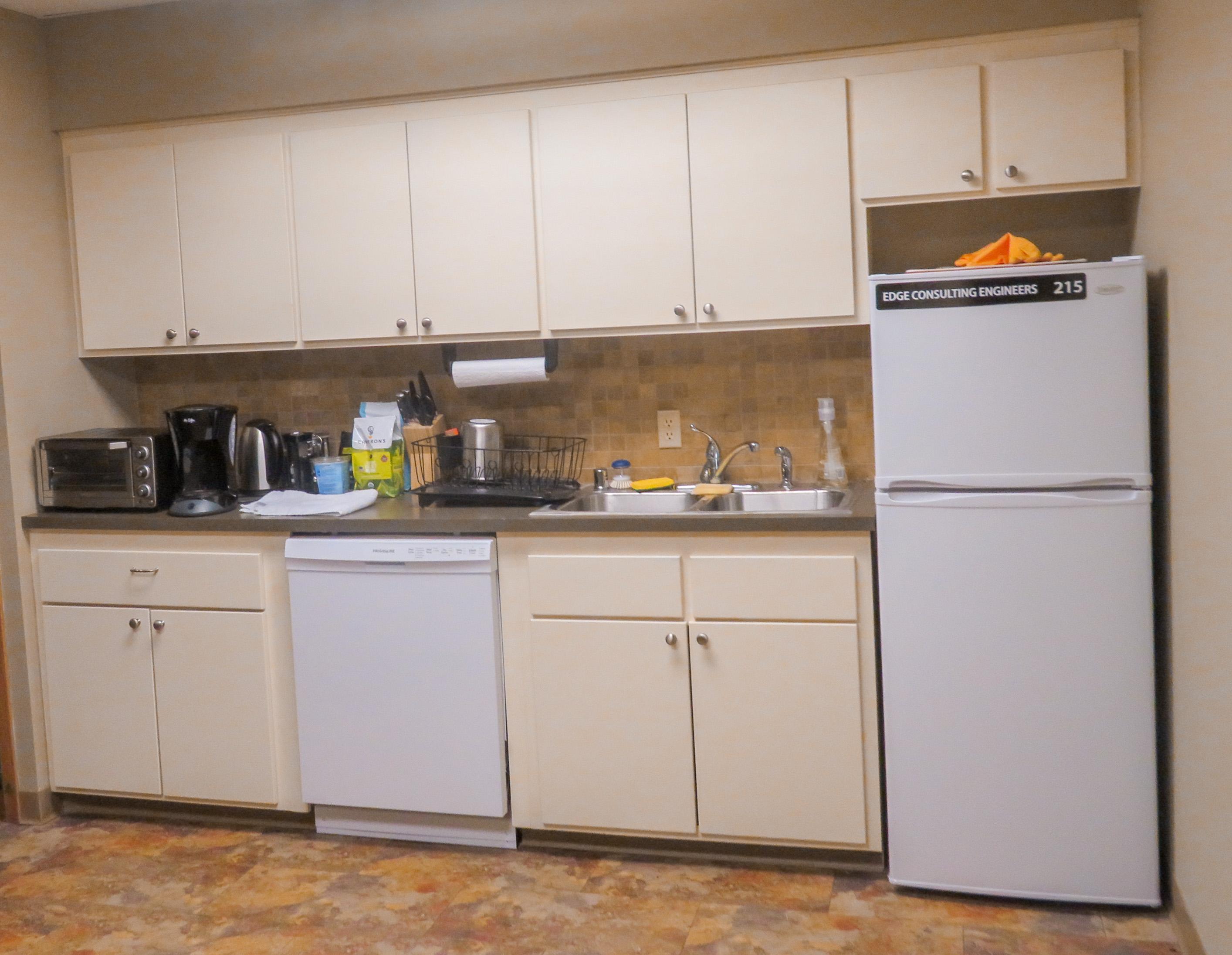 Employee kitchen area.